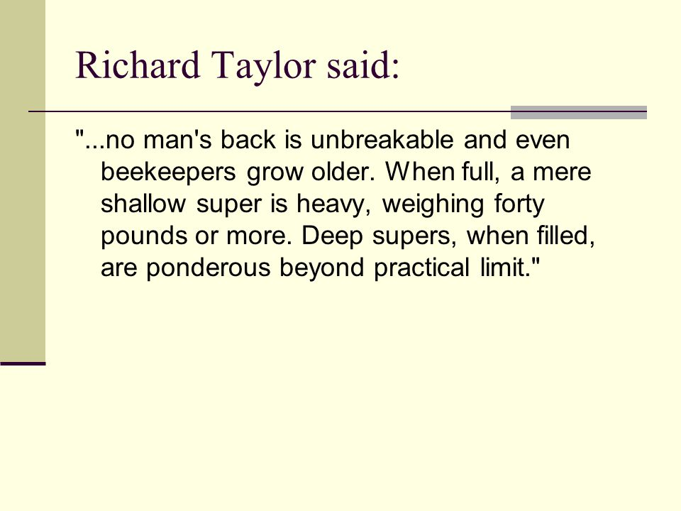 Richard Taylor said: