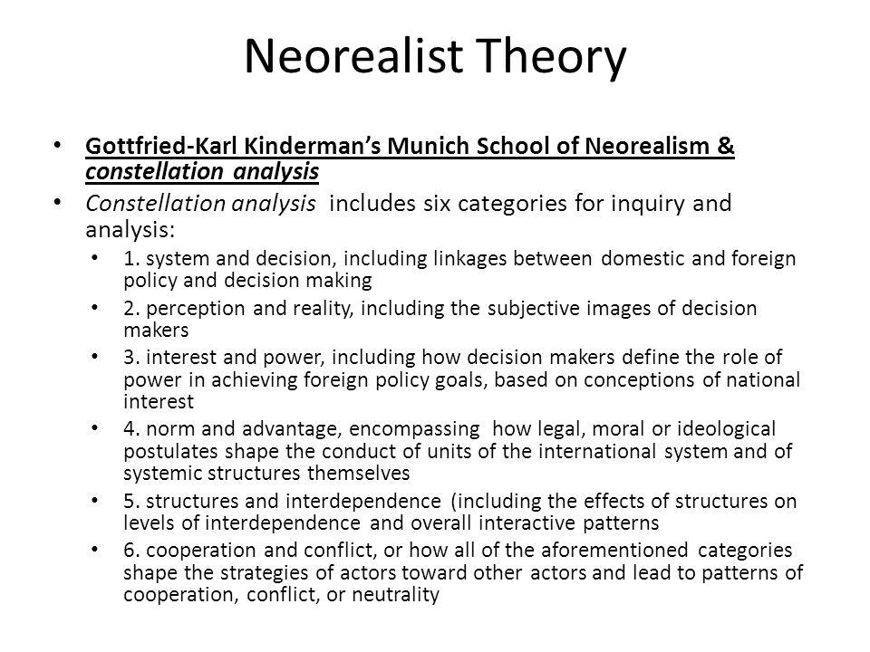 Neorealist Theory Gottfried-Karl Kinderman's Munich School of Neorealism & constellation analysis.