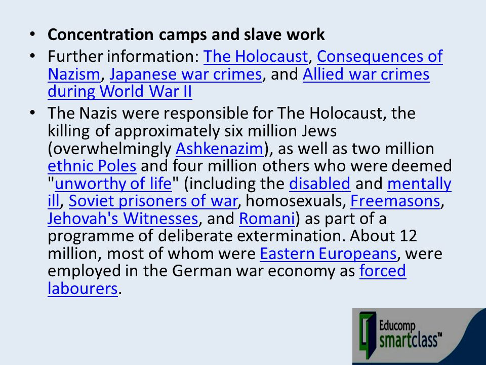 Concentration camps and slave work