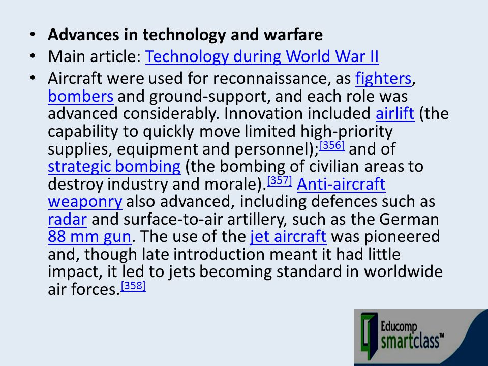 Advances in technology and warfare
