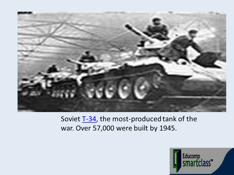 Soviet T-34, the most-produced tank of the war