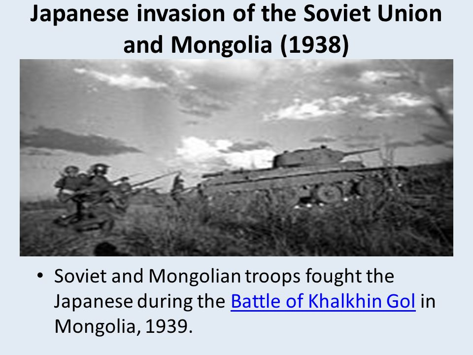 Japanese invasion of the Soviet Union and Mongolia (1938)