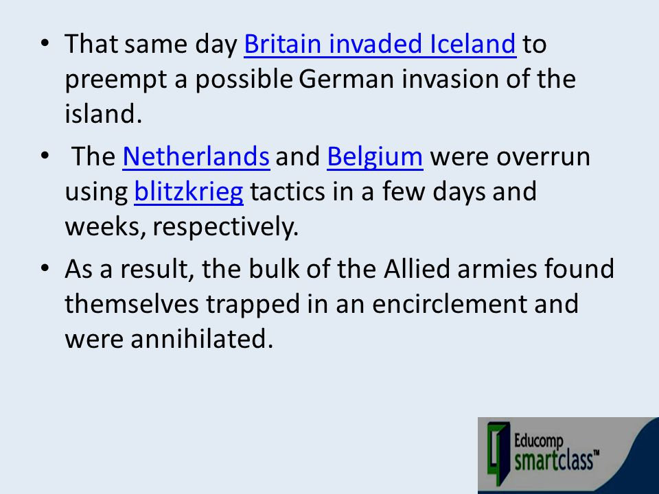 That same day Britain invaded Iceland to preempt a possible German invasion of the island.