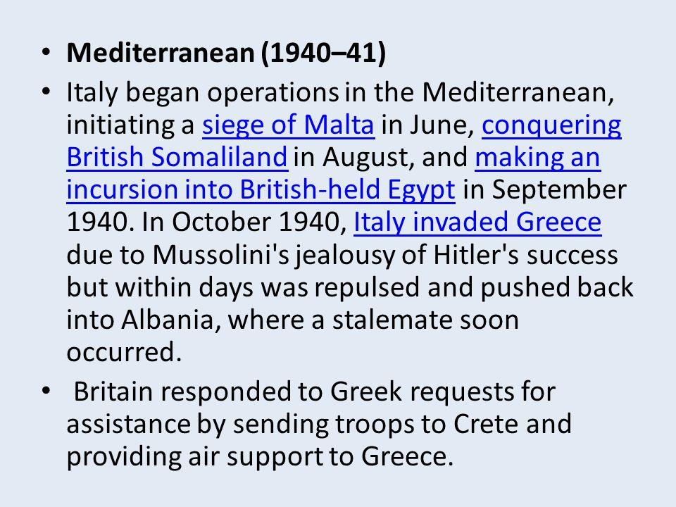 Mediterranean (1940–41)