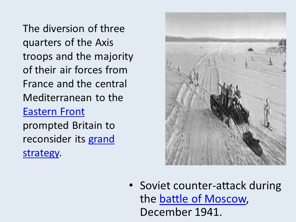 Soviet counter-attack during the battle of Moscow, December 1941.