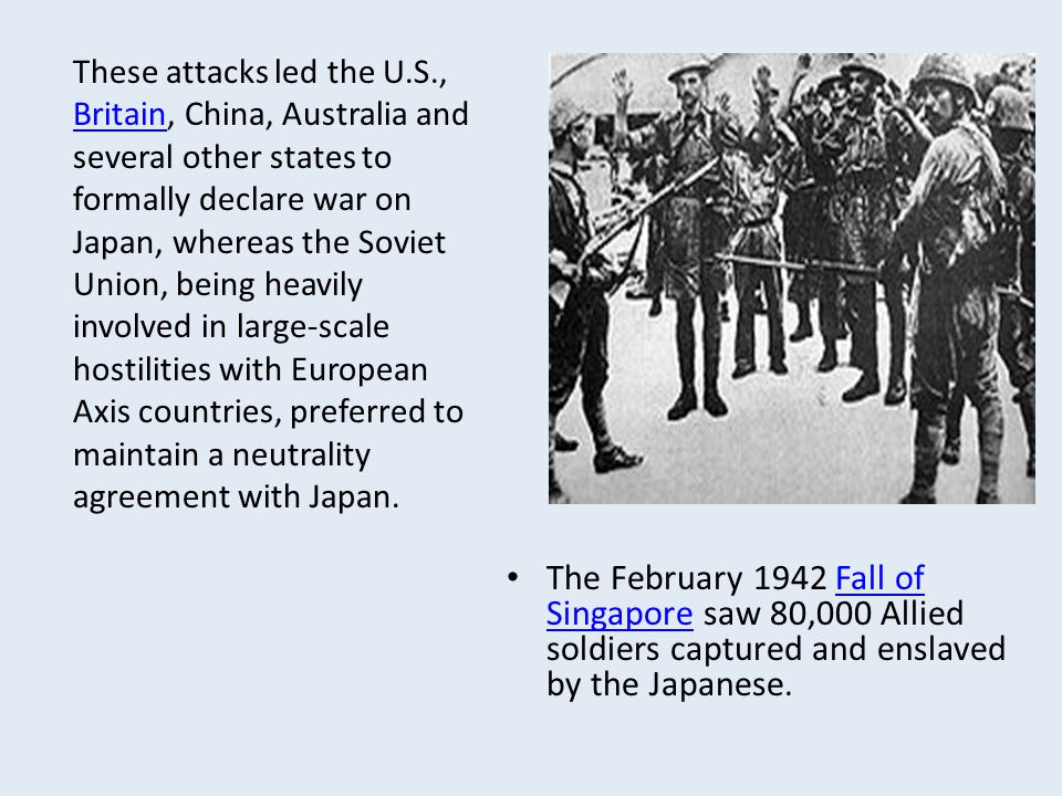 These attacks led the U. S