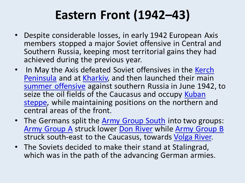 Eastern Front (1942–43)