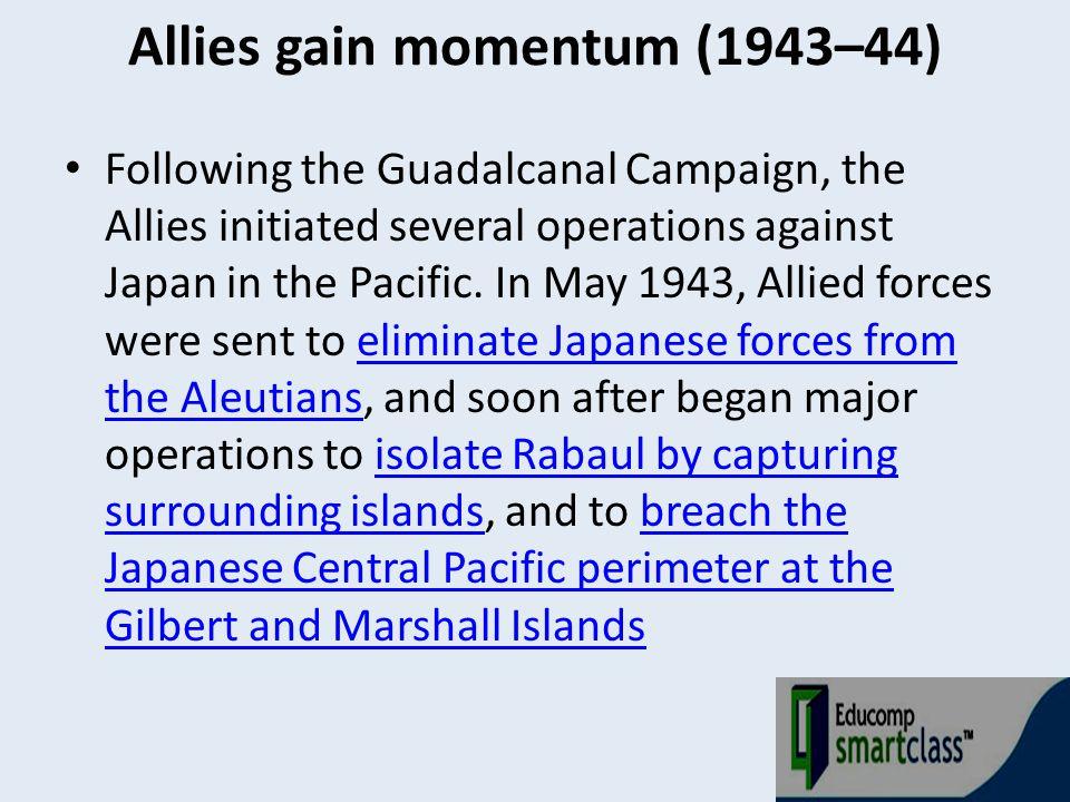 Allies gain momentum (1943–44)