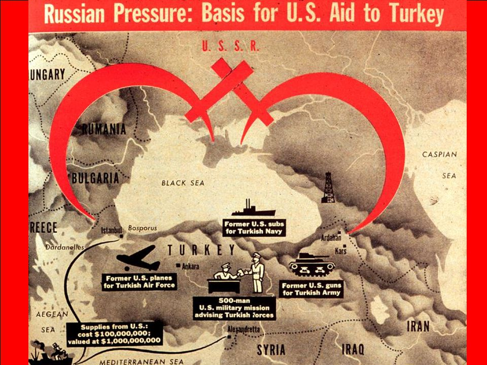 Congress appropriated $400 million in aid to Greece & Turkey