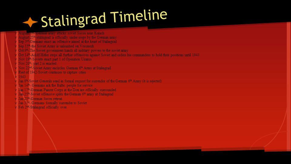 Stalingrad Timeline v August 7th- German army attacks soviet forces near Kalach.
