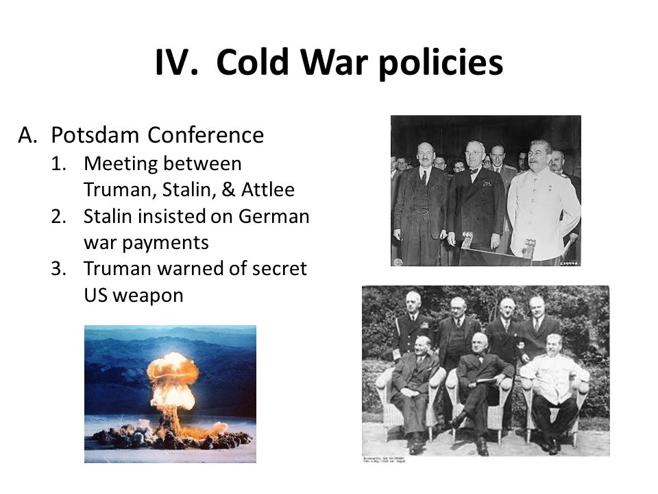 Cold War policies Potsdam Conference