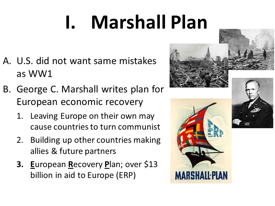 Marshall Plan U.S. did not want same mistakes as WW1