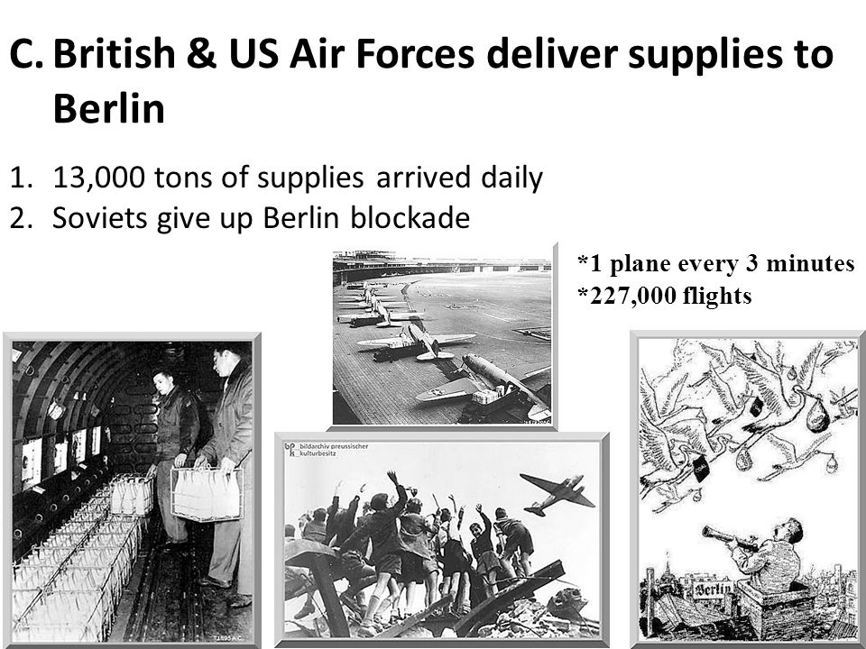 British & US Air Forces deliver supplies to Berlin