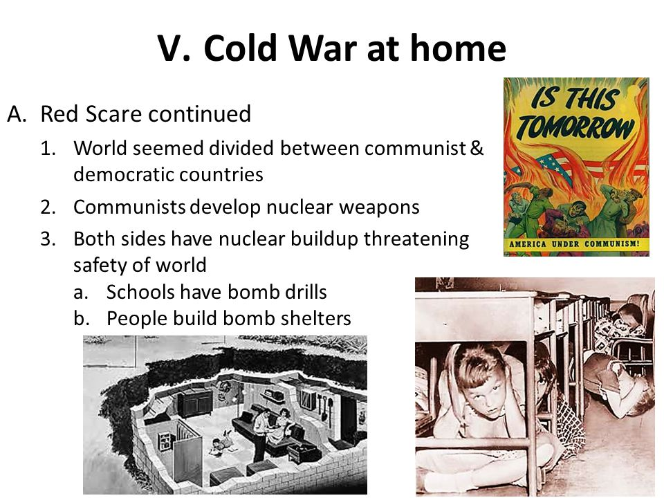 Cold War at home Red Scare continued