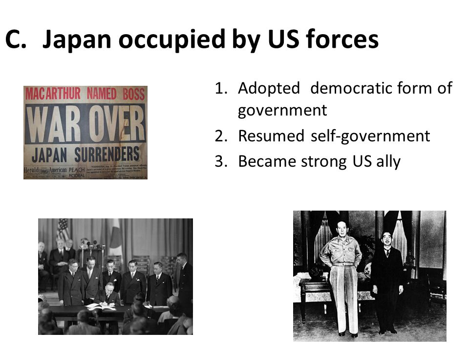 Japan occupied by US forces