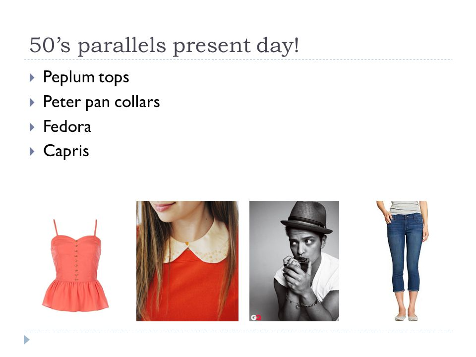 50's parallels present day!