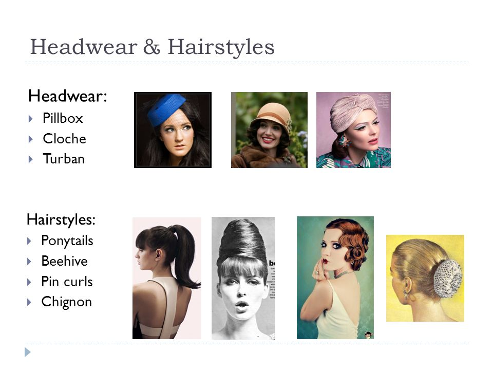 Headwear & Hairstyles Headwear: Hairstyles: Pillbox Cloche Turban
