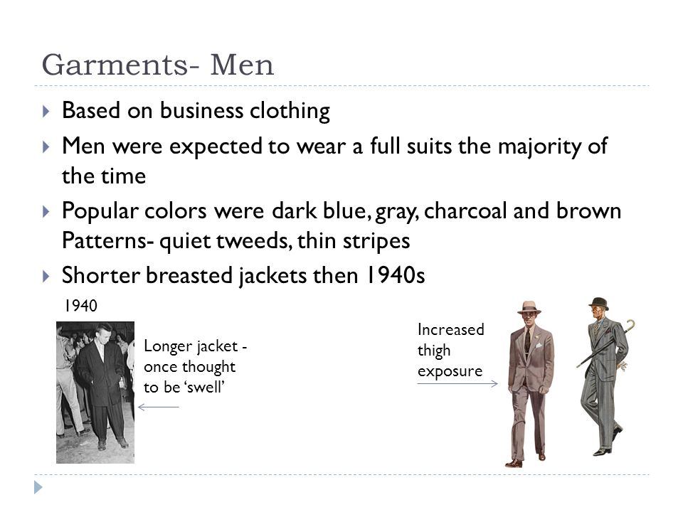 Garments- Men Based on business clothing