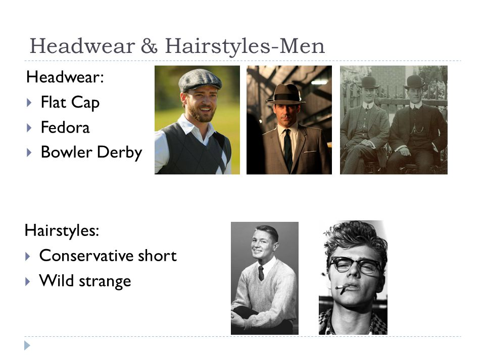Headwear & Hairstyles-Men