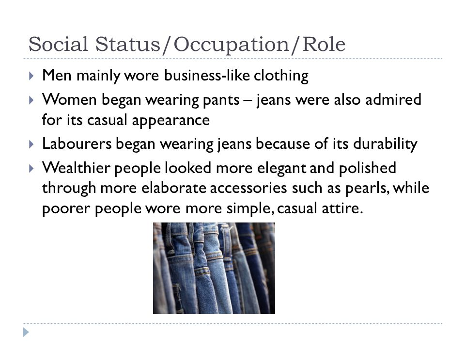 Social Status/Occupation/Role