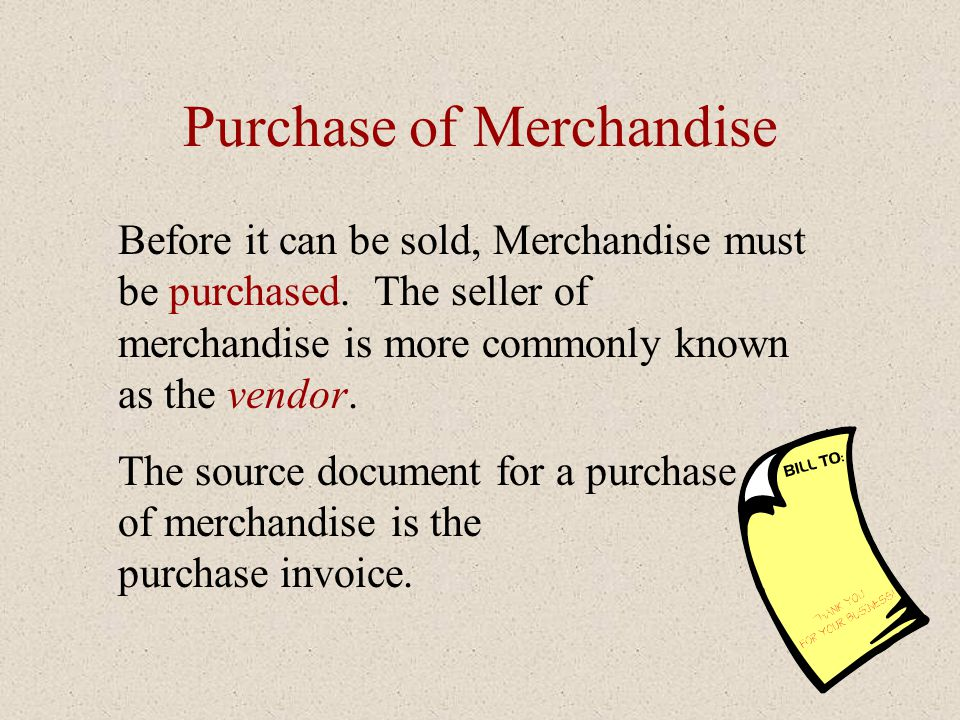 Purchase of Merchandise