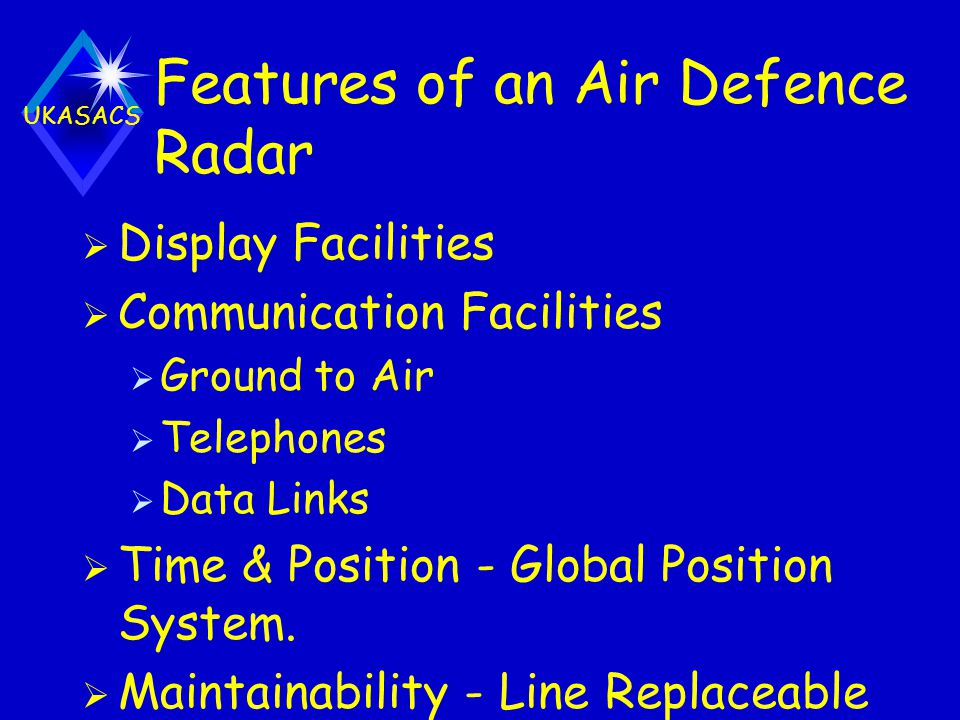 Features of an Air Defence Radar