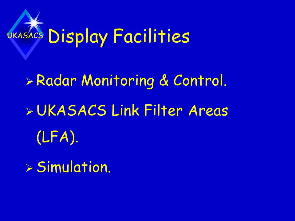 Display Facilities Radar Monitoring & Control.