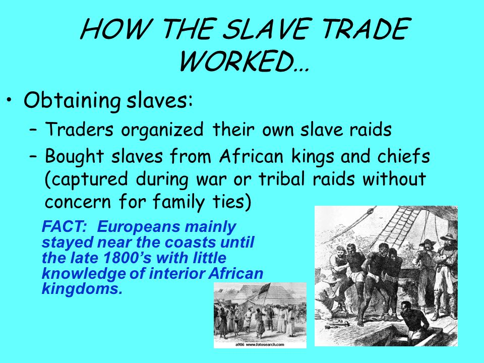 HOW THE SLAVE TRADE WORKED…