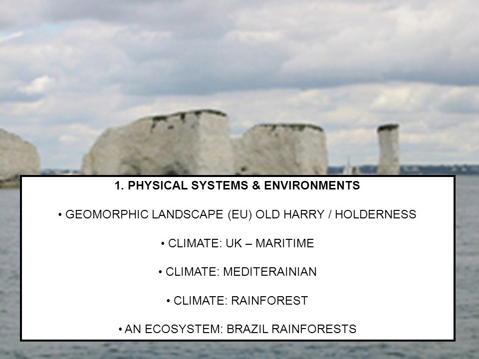 1. PHYSICAL SYSTEMS & ENVIRONMENTS