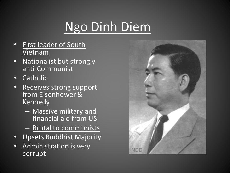Ngo Dinh Diem First leader of South Vietnam