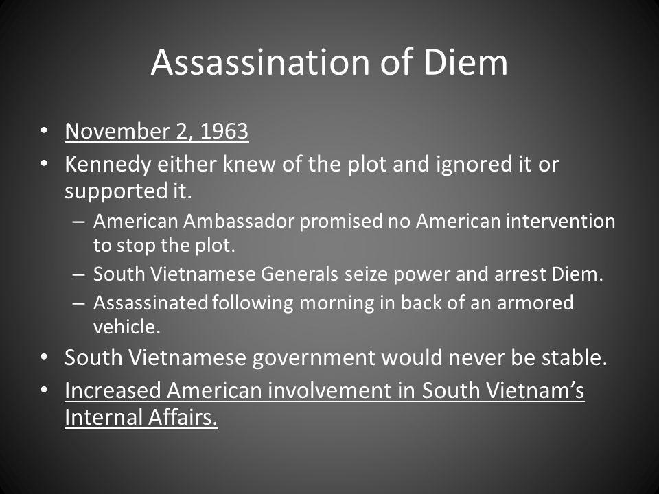 Assassination of Diem November 2, 1963