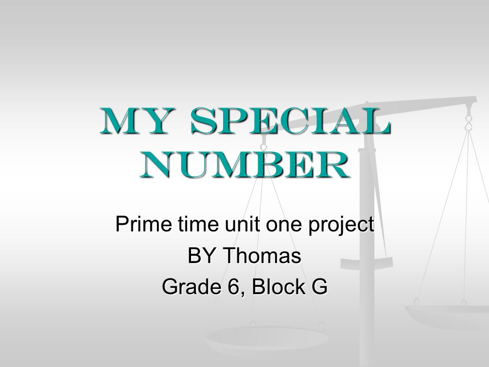 Prime time unit one project BY Thomas Grade 6, Block G