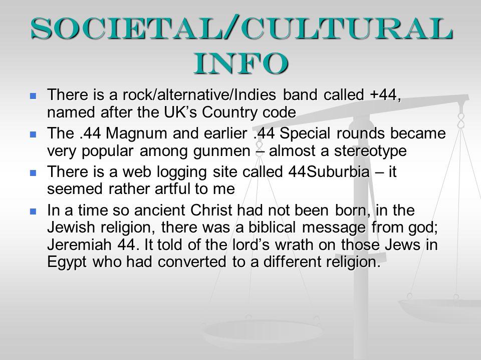 Societal/Cultural Info