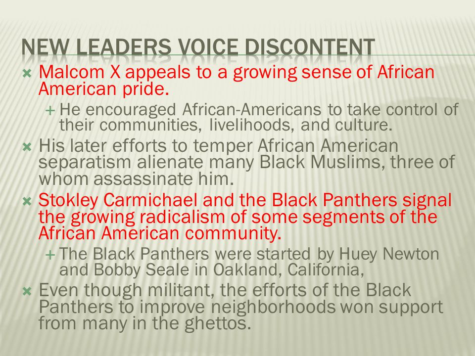 New Leaders Voice Discontent