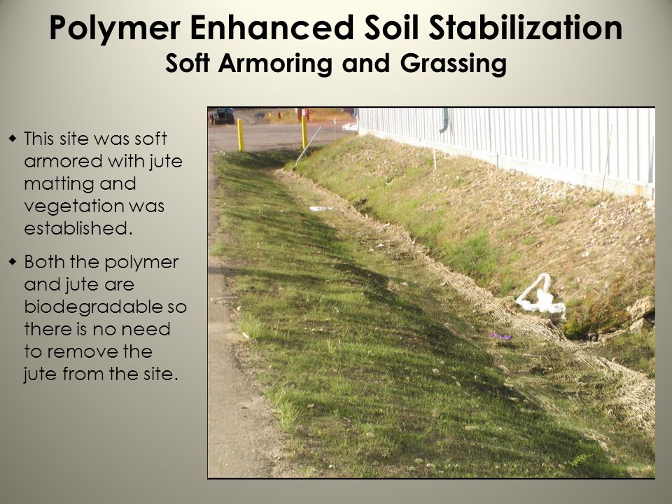 Polymer Enhanced Soil Stabilization Soft Armoring and Grassing