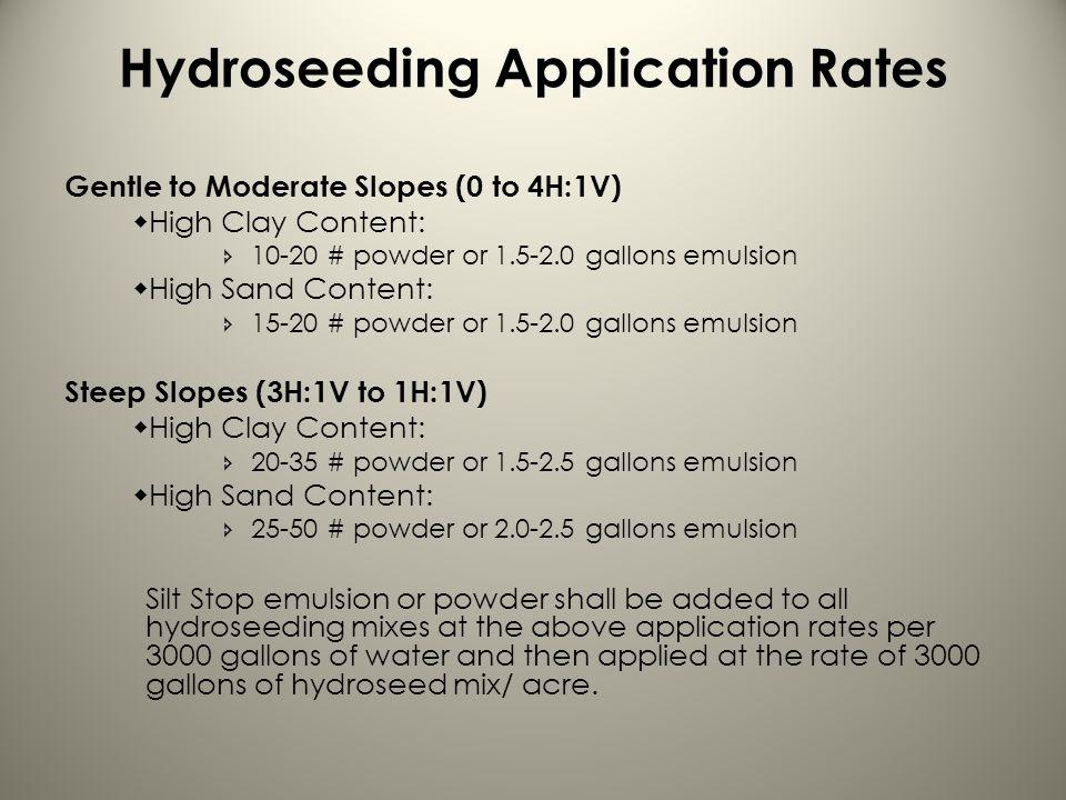 Hydroseeding Application Rates