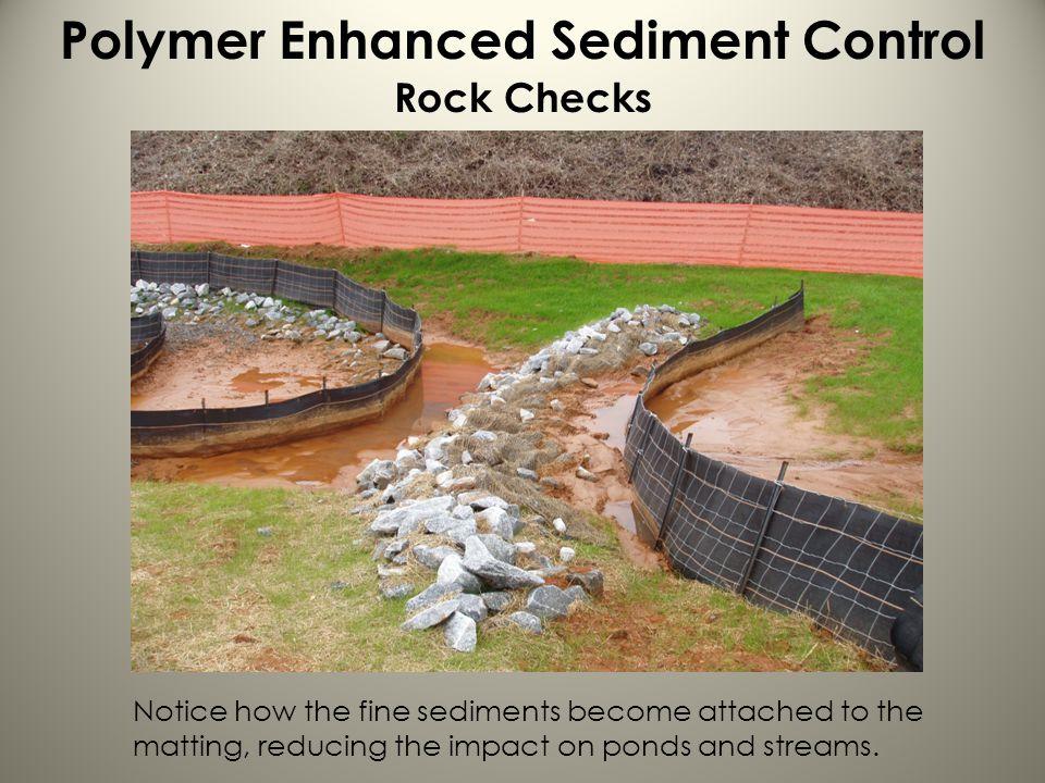 Polymer Enhanced Sediment Control Rock Checks
