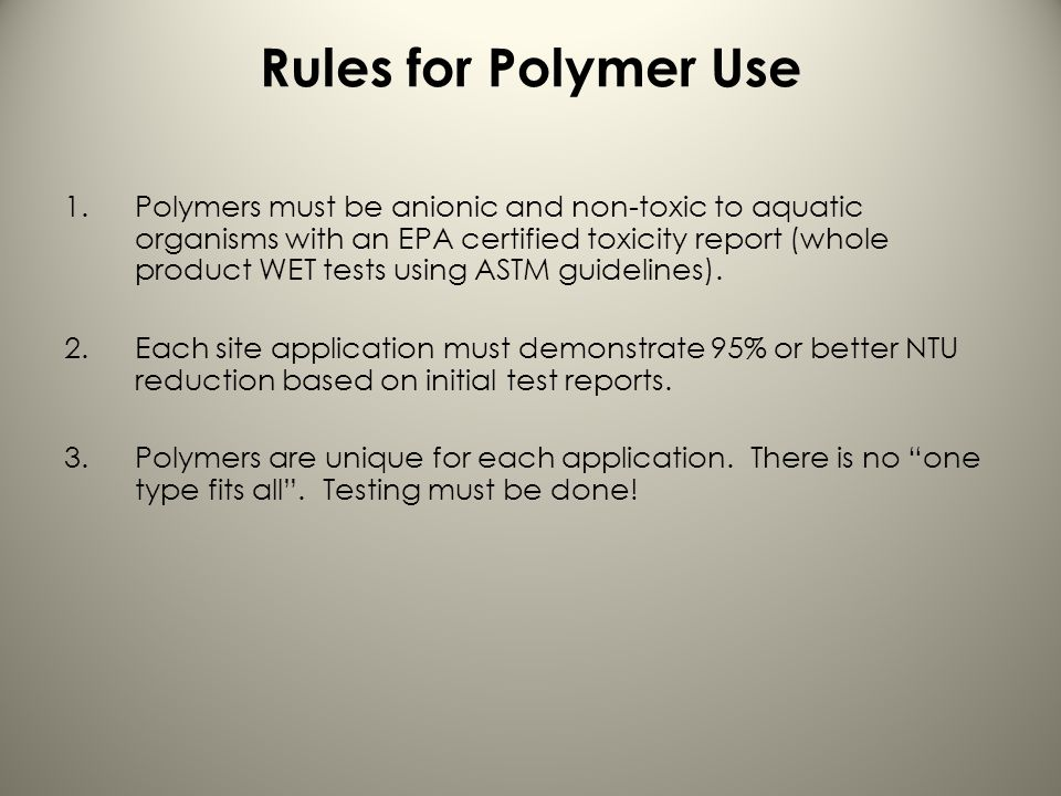 Rules for Polymer Use