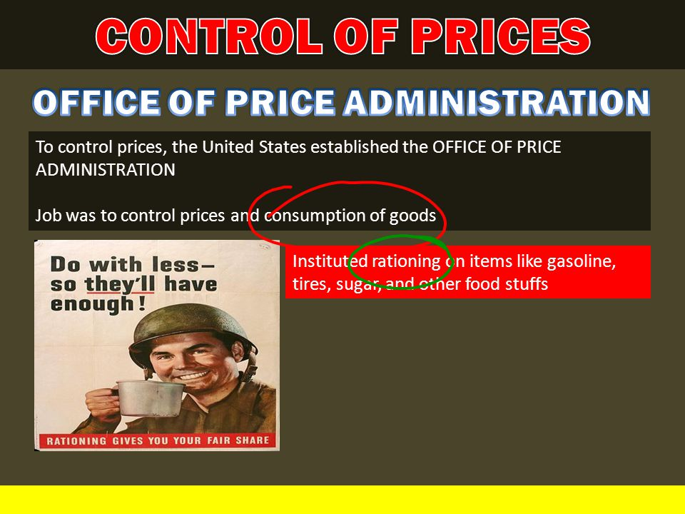 OFFICE OF PRICE ADMINISTRATION