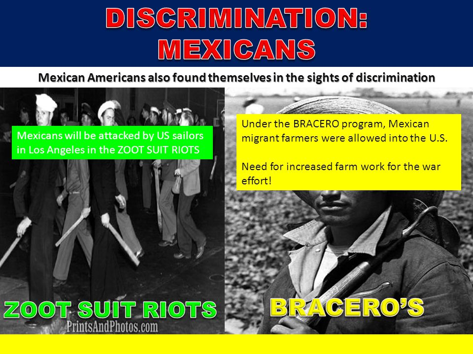 DISCRIMINATION: MEXICANS