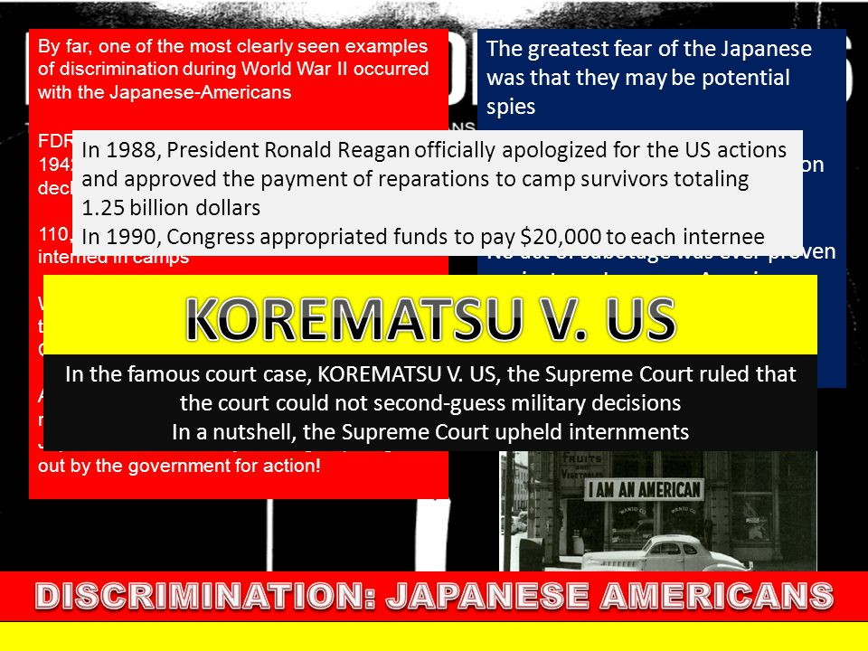 DISCRIMINATION: JAPANESE AMERICANS