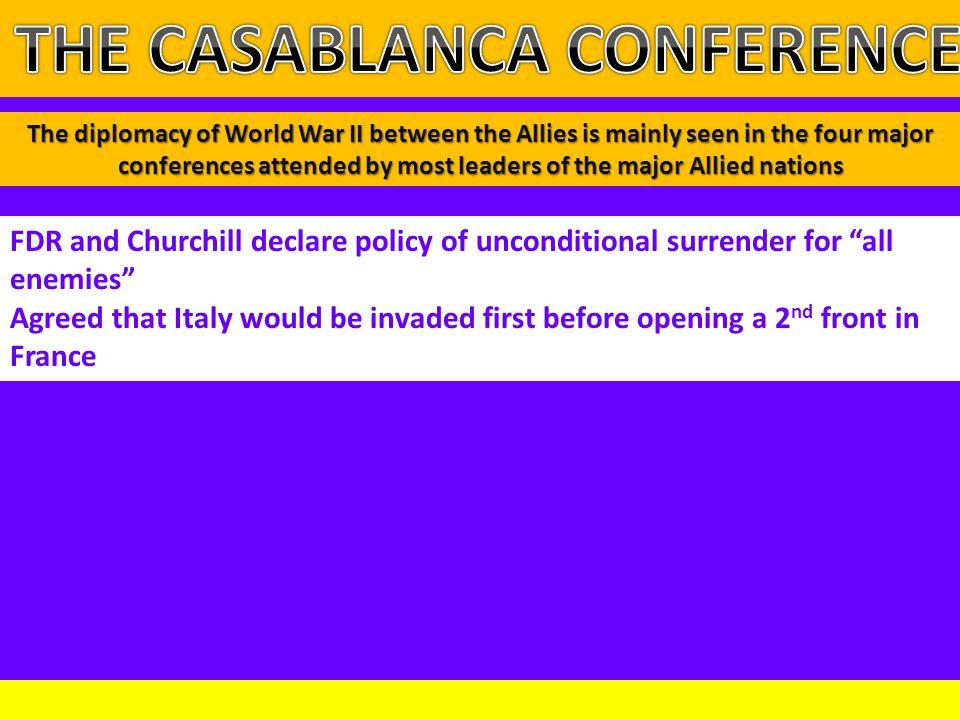 THE CASABLANCA CONFERENCE