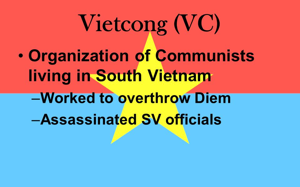 Vietcong (VC) Organization of Communists living in South Vietnam