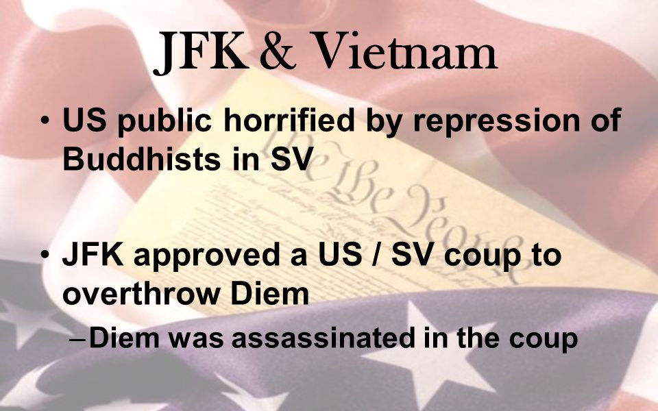 JFK & Vietnam US public horrified by repression of Buddhists in SV