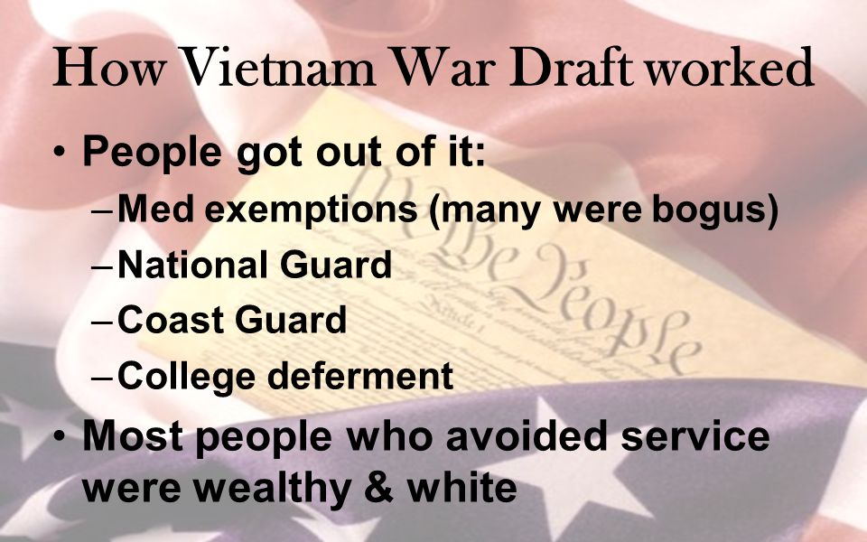 How Vietnam War Draft worked