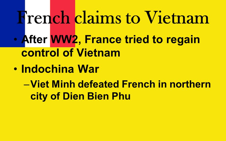 French claims to Vietnam
