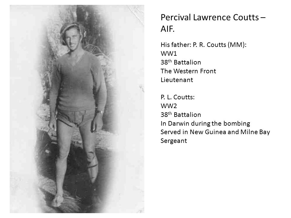 Percival Lawrence Coutts – AIF.