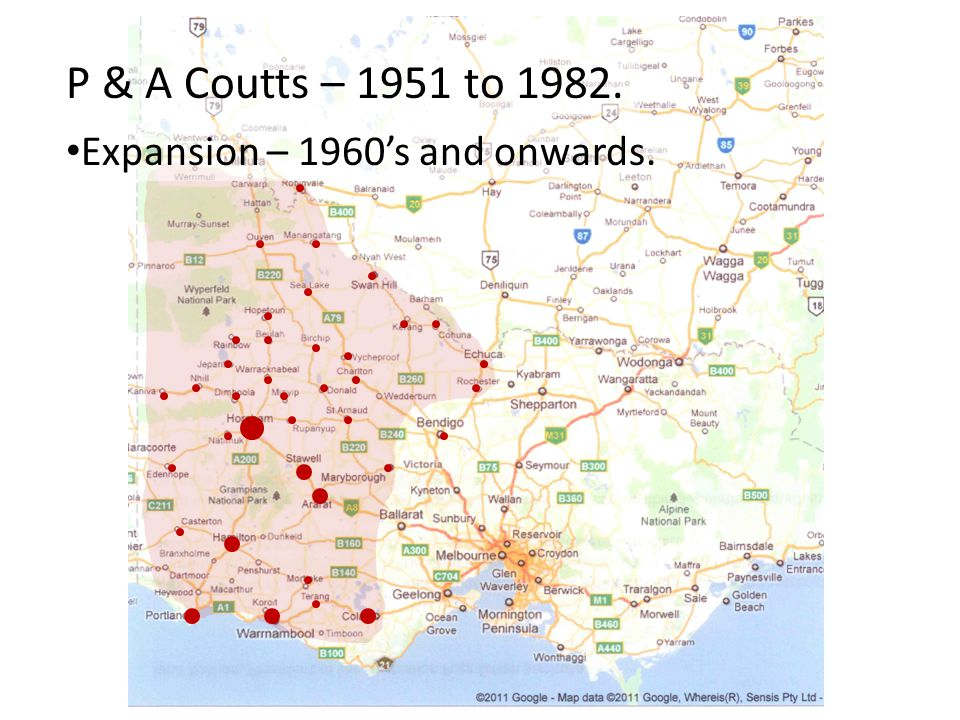 P & A Coutts – 1951 to 1982. Expansion – 1960's and onwards.