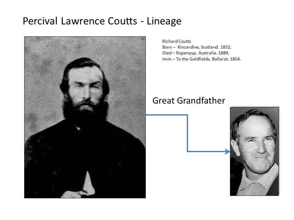 Percival Lawrence Coutts - Lineage