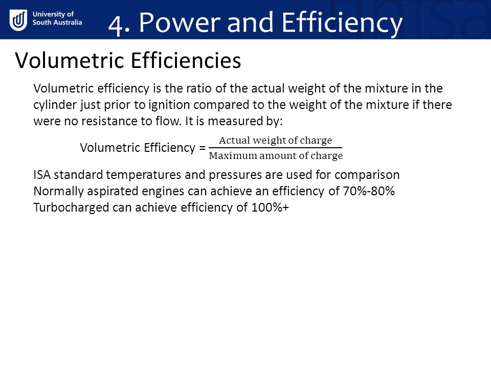 4. Power and Efficiency Volumetric Efficiencies
